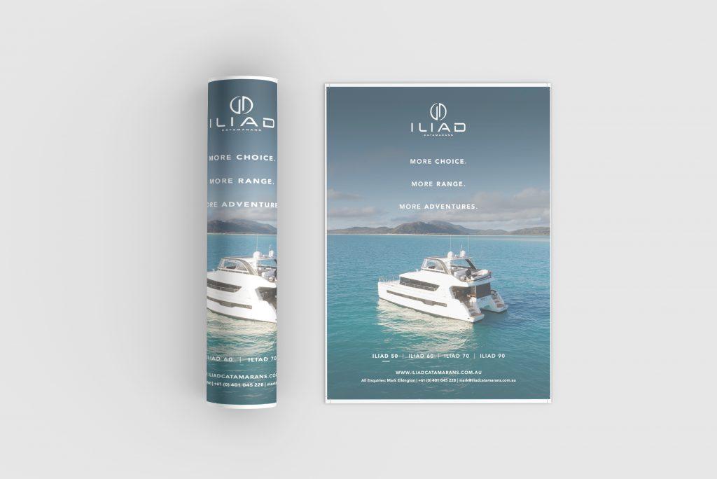 ILIAD Catamarans press ad by Chilli