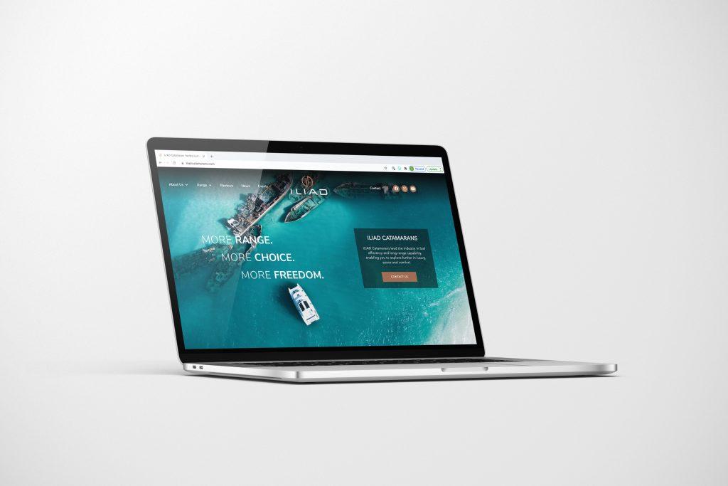 ILIAD Catamarans website design by Chilli