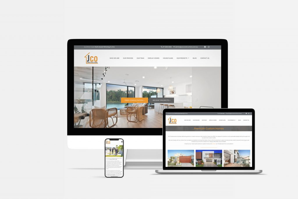 jco constructions website by chilli